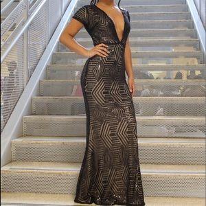 Beautiful Long black even dress